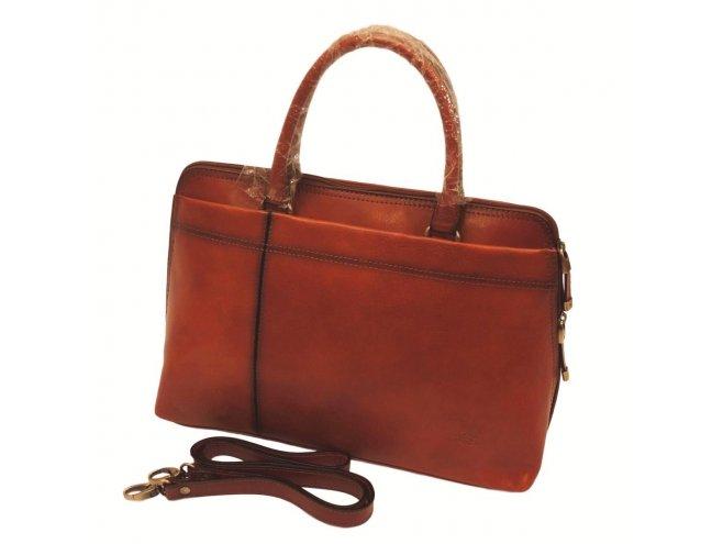 Katana 82563 Marron dámská luxusní kožená aktovka, kaštanově hnědá