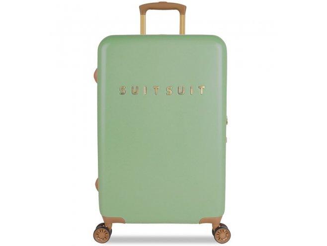 SUITSUIT Fab Seventies M Basil Green cestovní kufr na 4 kolečkách TSA 67 cm