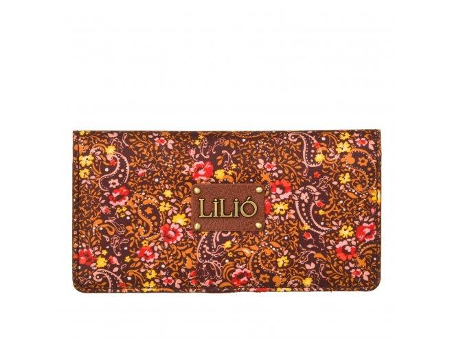 LiLiÓ Ditsy Creditcard Wallet Bright Sienna dámska peněženka na karty a bankovky 17x1x9 cm