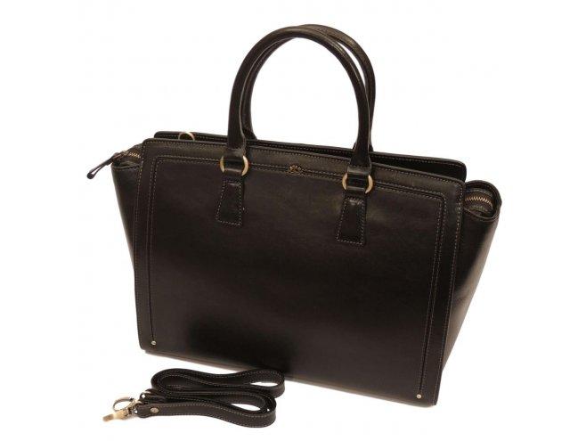 Katana 66816 Noir dámská luxusní kožená kabelka, černá