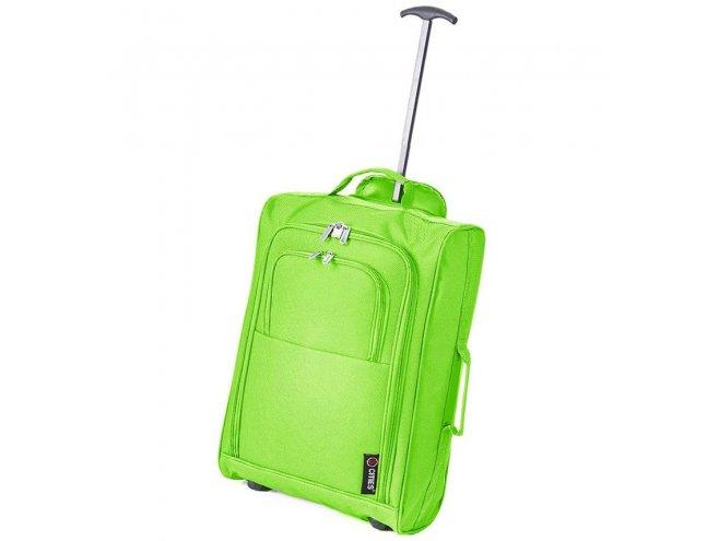 5 Cities T-830 S palubní kufr na 2 kolečkách 55 cm 1,65 kg zelený