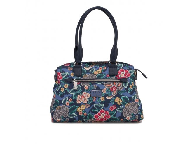 LiLiÓ Winter Poppy M Carry All květovaná kabelka 36 cm True Blue