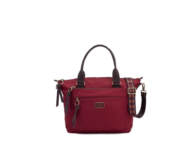 LiLiÓ Solid lilió Handbag elegantní kabelka 28 cm Burgundy