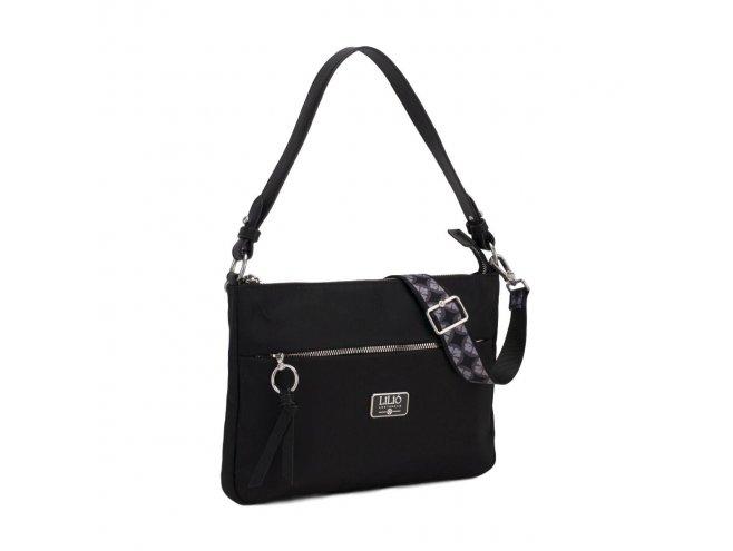 LiLiÓ Solid lilió M Flat Shoulder Bag kabelka na/přes rameno 30 cm Black