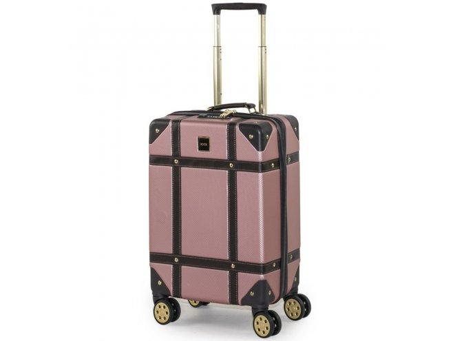 ROCK TR-0193 Vintage S palubný kufor do lietadla TSA 55 cm Pink