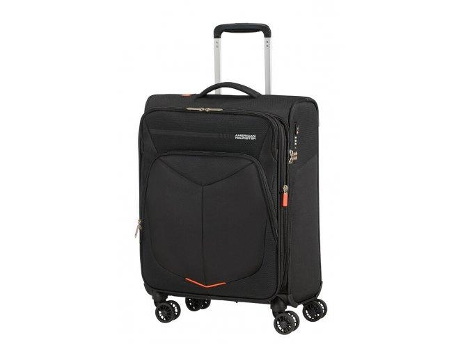 American Tourister Summerfunk 4w palubní kufr TSA 55 cm 43/46 l Black