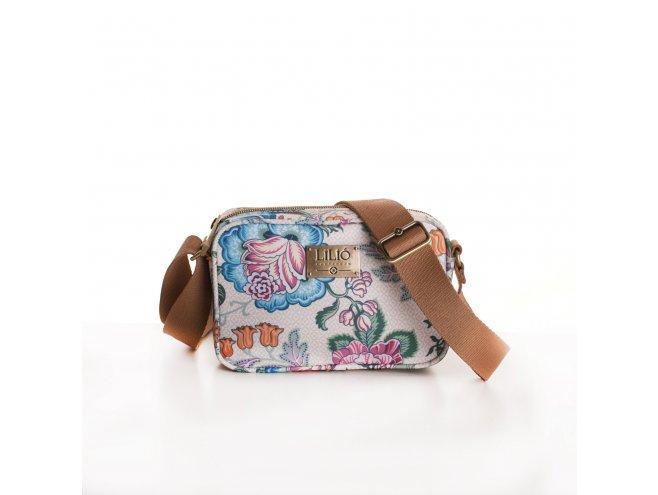 LiLiÓ Folkloric Fun XS Shouder Bag malá květovaná kabelka 18 cm Whipped Cream
