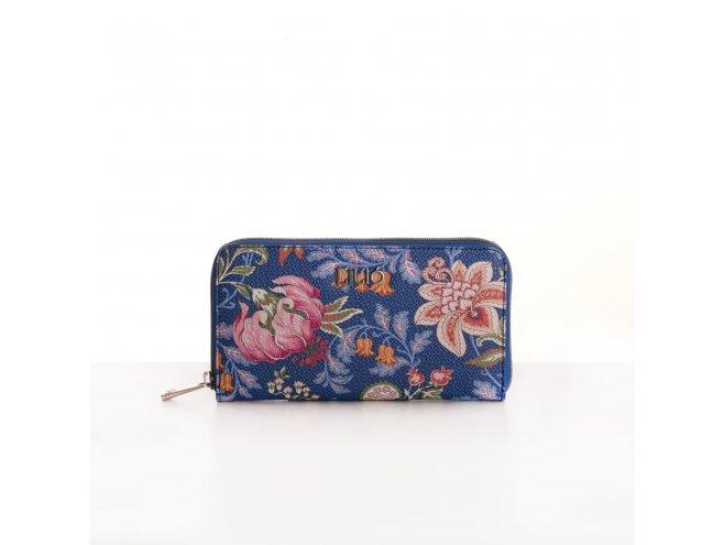 LiLiÓ Folkloric Fun L Zip Wallet dámská peněženka 19,5 cm Slate Blue