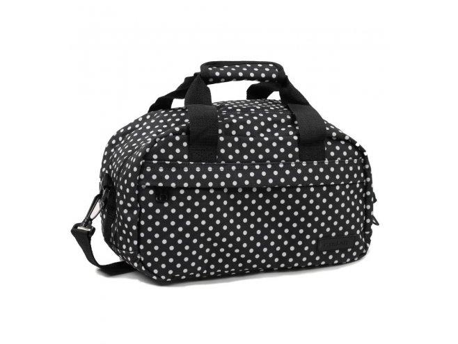 Member's SB-0043 palubní cestovní taška 40x20x25 cm Ryanair černá/bílá
