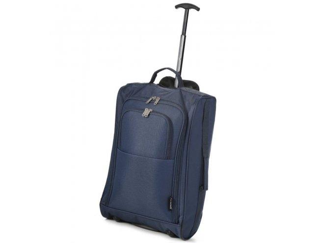 5 Cities T-830 S palubní kufr na 2 kolečkách 55 cm 1,65 kg modrý