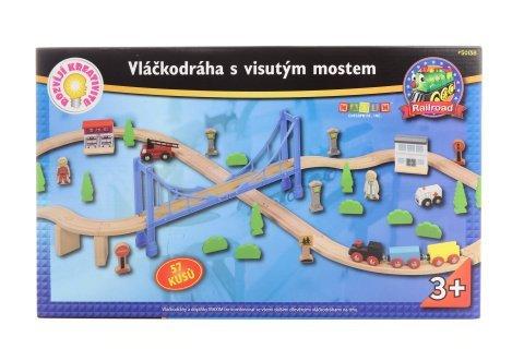 Maxim Vláčkodráha s visutým mostem - 57ks
