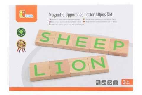 Dřevěná magnetická písmena
