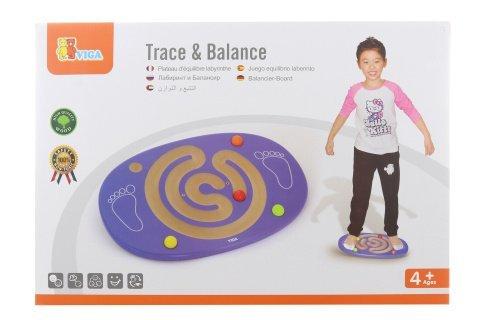 Dřevěná balanční deska s labyrintem