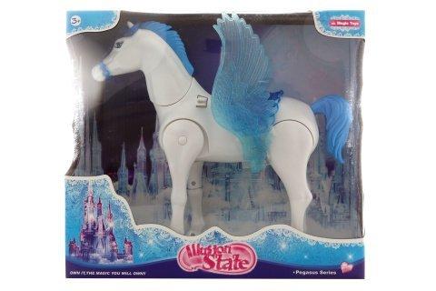 Kůň modrý s hýbajícími křídly