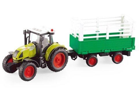 Traktor s přívěsem baterie
