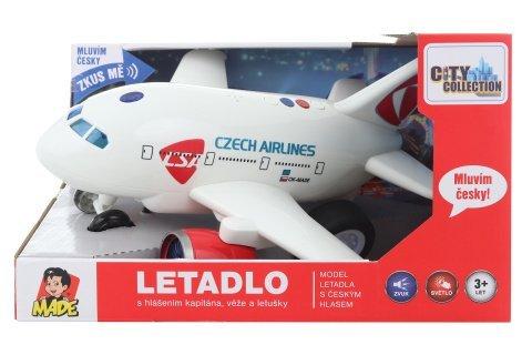 Letadlo ČSA s českým hlasem 30 cm