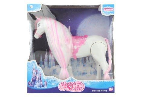 Kůň růžový na baterie