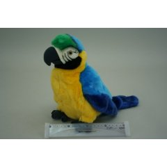 Plyš Papoušek maňásek 27 cm