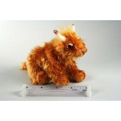 Plyš Kráva s dlouhou srstí 36 cm