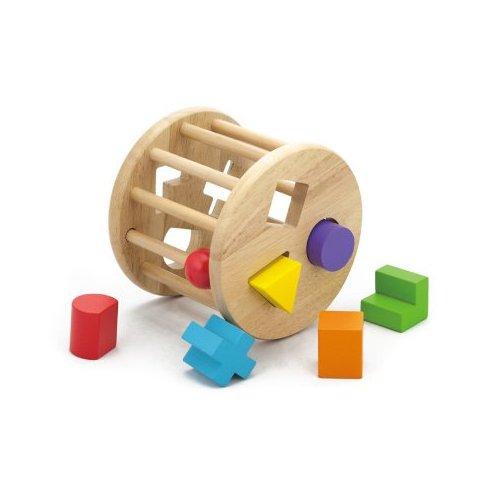 Dřevěná vkládačka válec