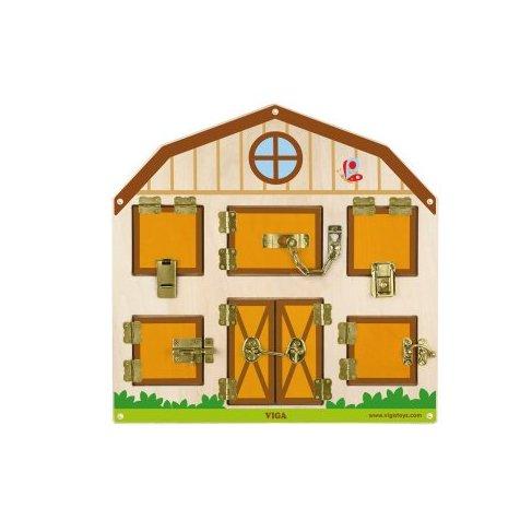 Dřevěná hra - zamykání a odemykání