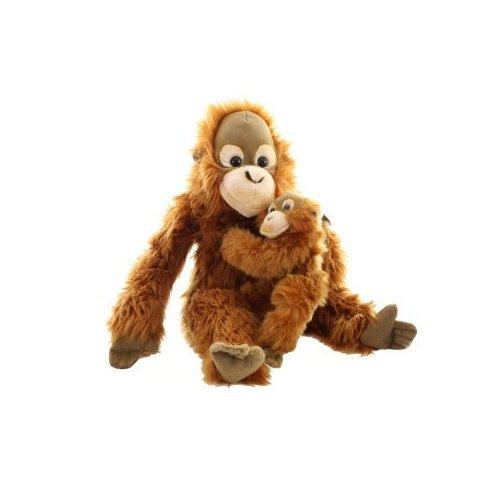Plyš Orangutan s mládětem 27 cm