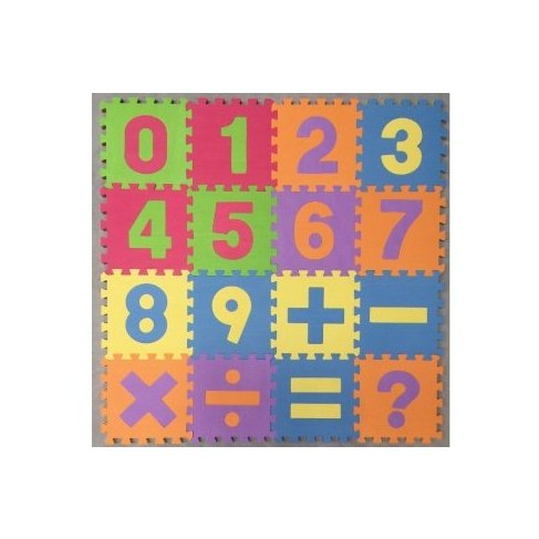 Pěnové puzzle 16ks počítání