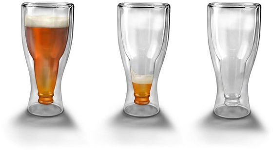 Pivní lahvová sklenice