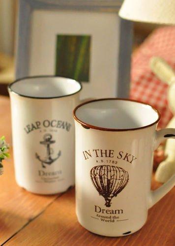 Porcelánový retro hrneček - Ocean
