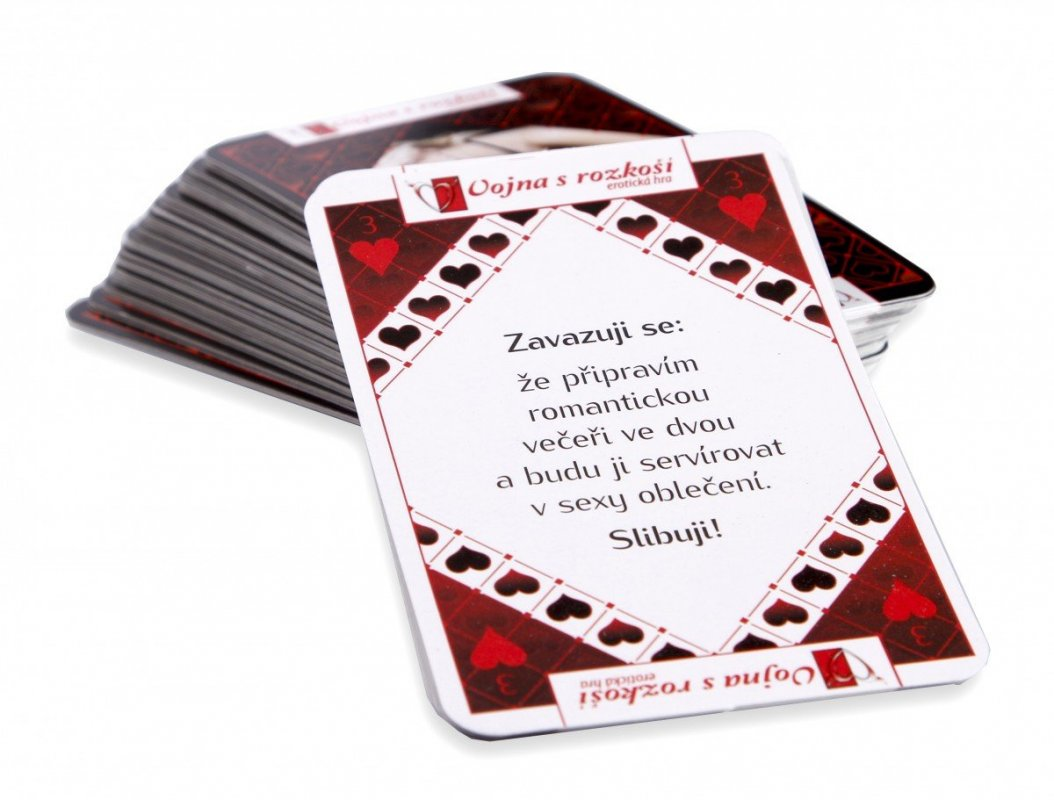 Hrací karty Vojna s rozkoší