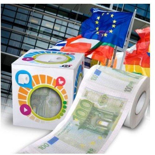 Toaletní papír 100 euro