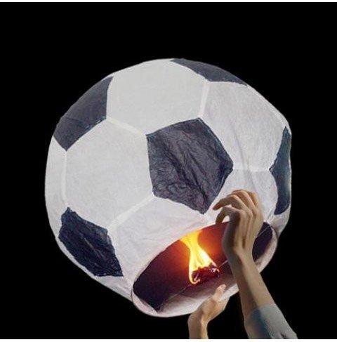 Lampion přání Fotbal - Červená
