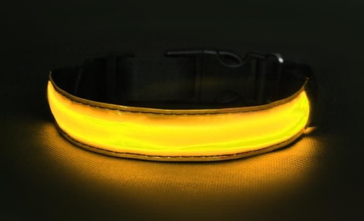 Svítící obojek žlutý