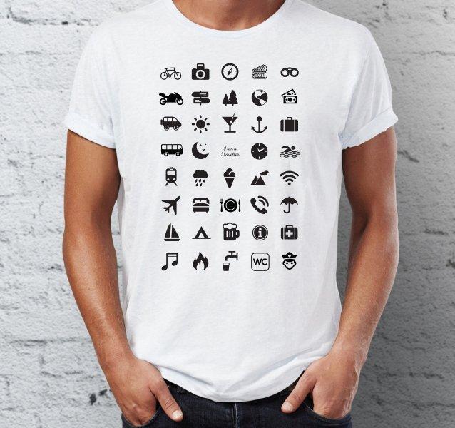 Cestovní tričko s ikonami