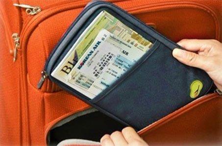 Cestovní organizér na doklady