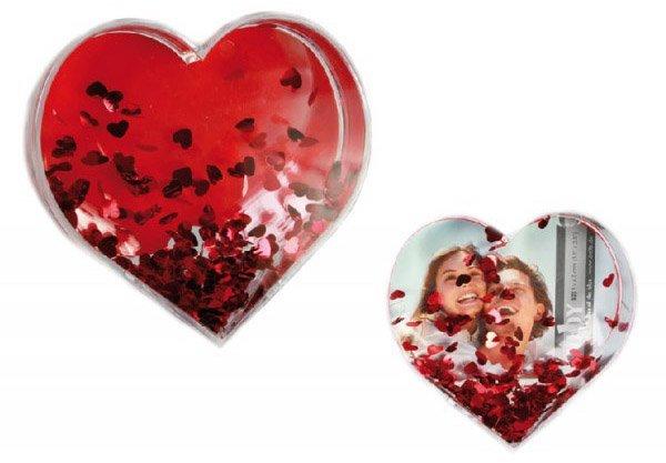 3D fotorámeček ve tvaru srdce