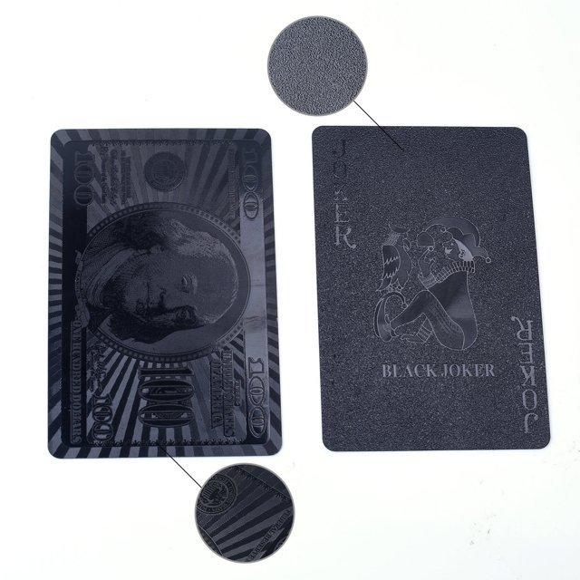 Luxusní černé hrací karty 54 ks