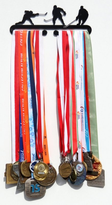 Věšák na medaile pro hokejisty