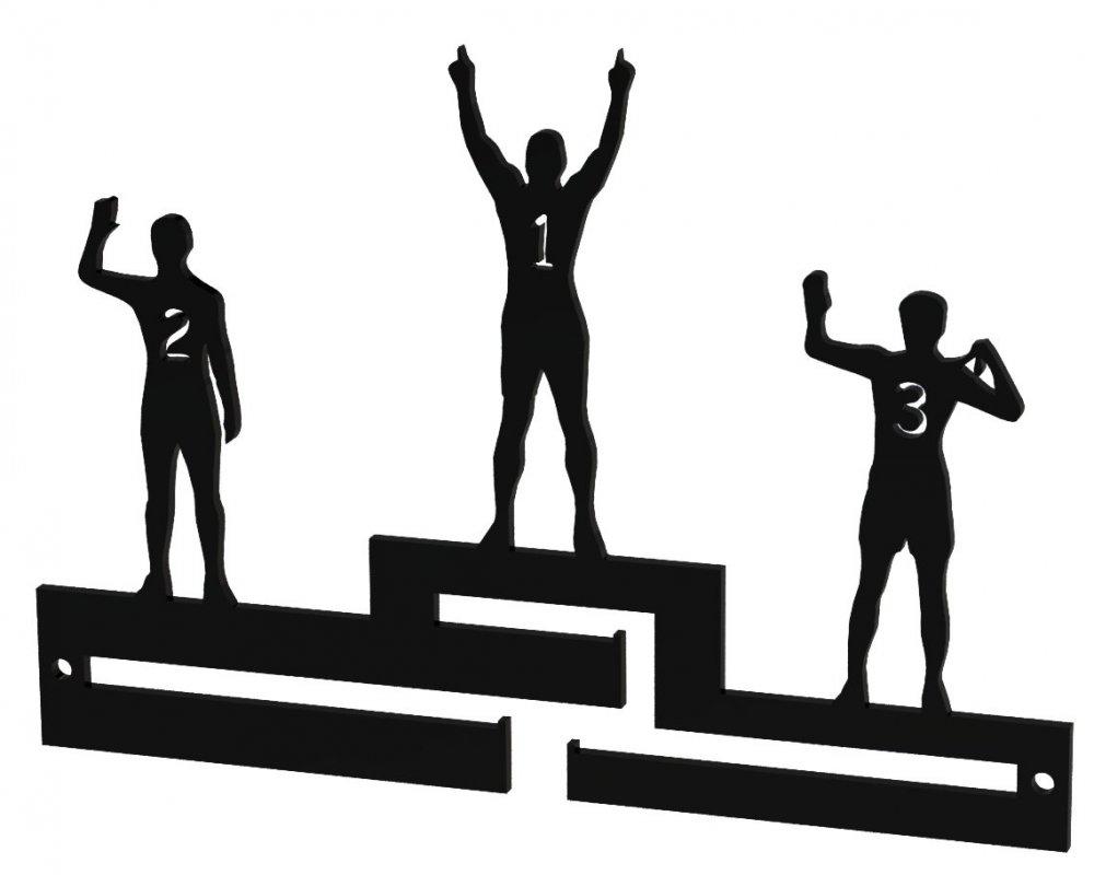 Věšák na medaile - Stupně vítězů