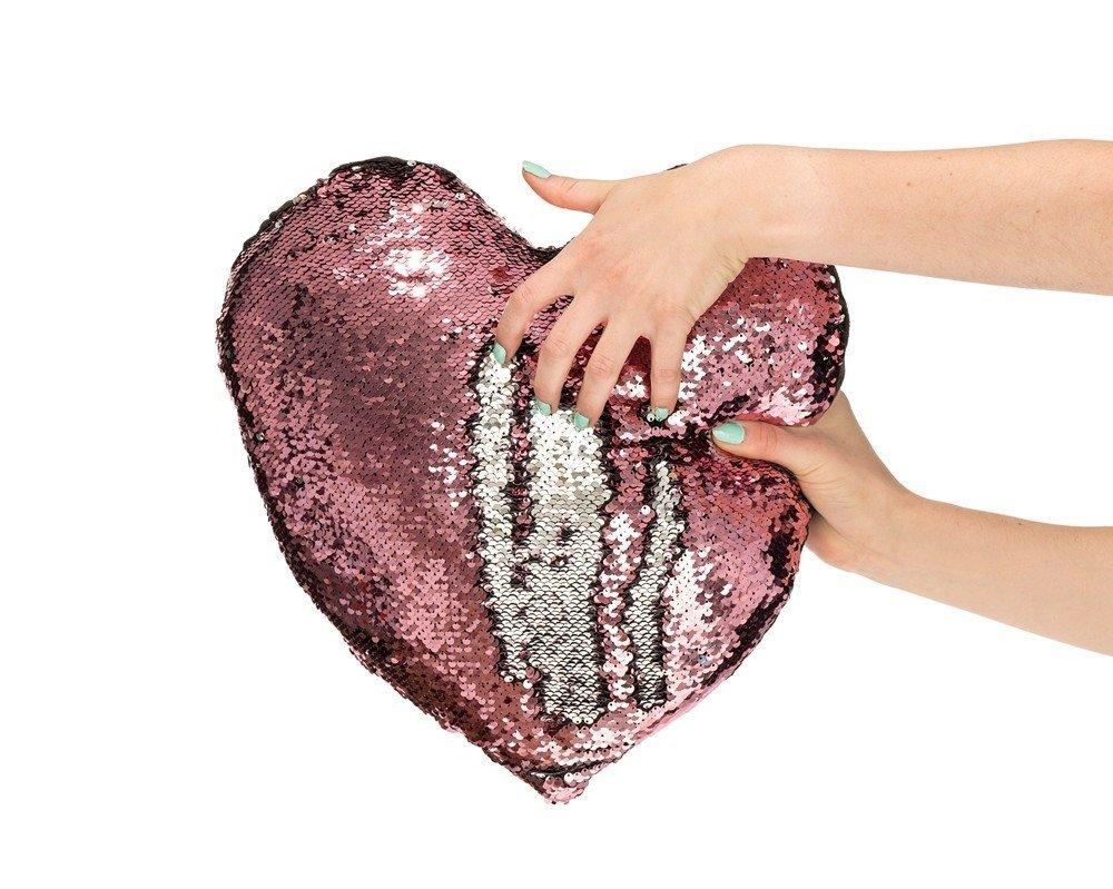 Polštářek s flitry - srdce