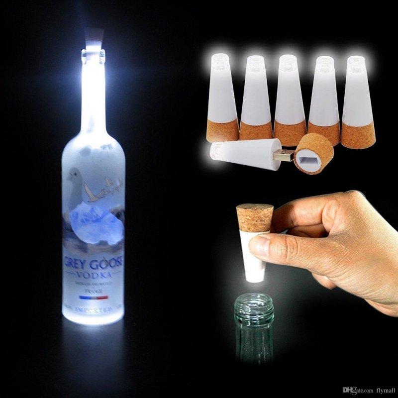 LED světelná zátka do láhve