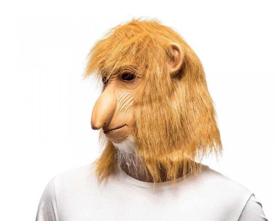 Maska opice nosáč - Kahau nosatý