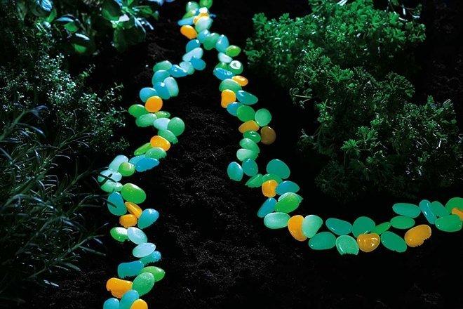 Svítící kameny 100ks - Zelená