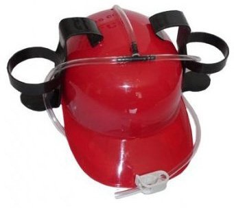 Pivní helma - červená