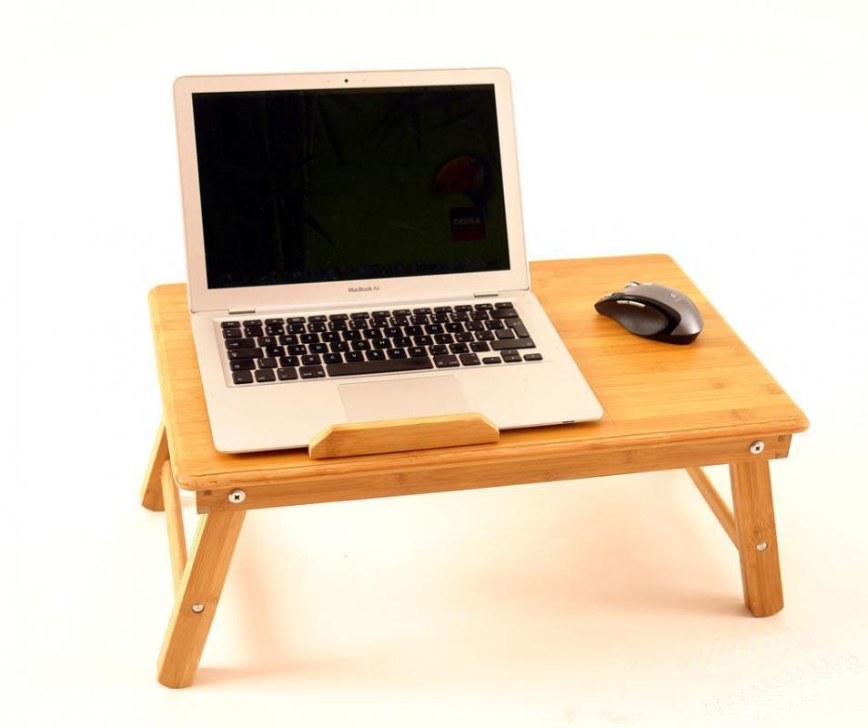 Stolek na notebook do postele-Dřevěný