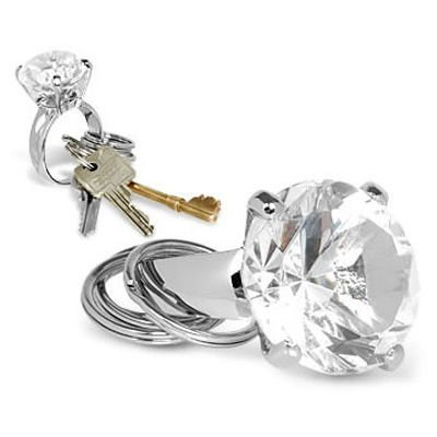 Přívěsek diamant - čirý