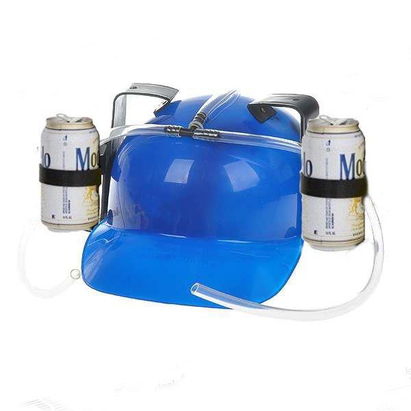 Pivní helma - modrá