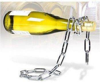 Řetězový držák na víno