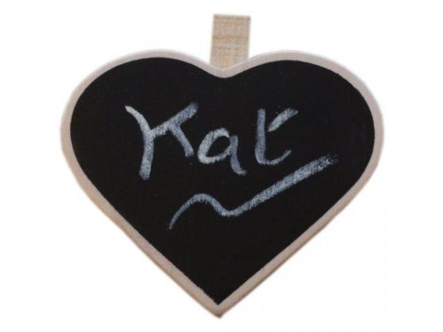 Mini tabule se vzkazem - srdce