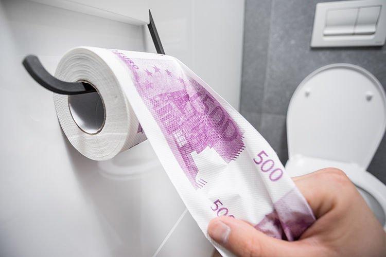 Toaletní papír 500 Euro XL